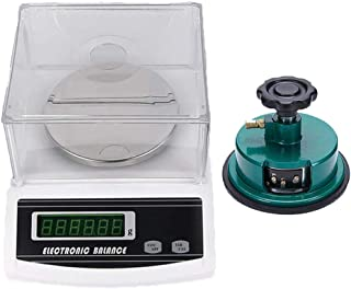 RESHY 100g/0.01g Fabric GSM Weight Precision Electronic Balance Scale With a 2mm Disk Sampler Cloth Cutter 110V (100g/0.01g+ sampler)