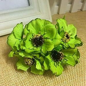 Artificial and Dried Flower 30pcs 4cm Mini Silk Cherry Artificial Poppy Bouquet DIY Handmade Tattoo Wreath Scrapbook Wedding Decoration Craft Fake Flower – ( Color: D )