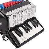 KACA Mugig Piano acordeón, con 8 botones de bajo, incluye correa ajustable para el hombro, válvula de aire, instrumento para niños para el desarrollo de la primera infancia