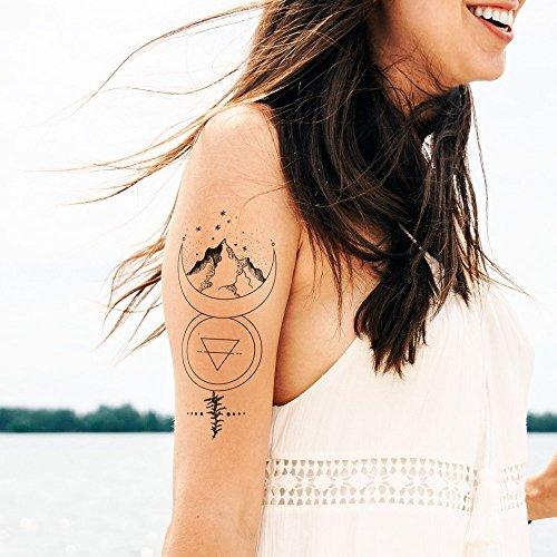 Moon Lights - Temporäres Tattoo