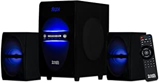 Sistema de Audio acústico LED Bluetooth 2.1 Canales Home Theater estéreo Negro (AA2106)