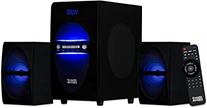 Acoustic Audio LED Bluetooth 2.1-Channel Home Theater Stereo System Black (AA2106)