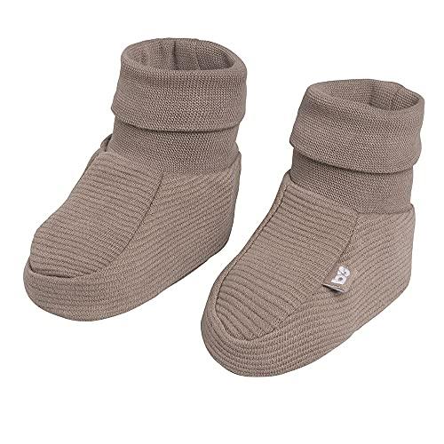 BO Baby's Only - Pure Booties - Baby-Schuhe - Für Mädchen und Jungen - 100% Biologische Baumwolle - Mokka