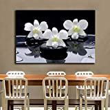 RTCKF 1 Pieces Modern Wall Art SPA Still Life Posters for Living Room HD Print Canvas Painting Home Decor Pictures 60x90CM (Frameless)