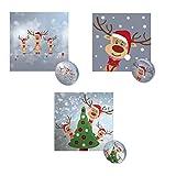 Bada Bing 3er Set Magisches Handtuch 30 x 30 Rentier Rudolph 3fach Sortiert Weihnachten Adventskalender Mitbringsel Geschenk 98
