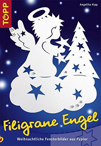 Filigrane Engel: Weihnachtliche Fensterbilder aus Papier