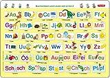 Fragenbär-Mini-Lernposter: Buchstaben und Laute von A bis Z (in der Schulbuch-Druckschrift)