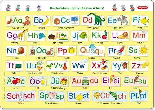 Fragenbär-Mini-Lernposter: Buchstaben und Laute von A bis Z (in der Schulbuch-Druckschrift) S 45 x 32 cm: stabiler Karton, folienbeschichtet, ... abwischbar (Lerne mehr mit Fragenbär)