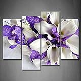 First Wall Art - Blumen Leinwand Bilder EIN Strauß lila