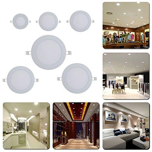 3W 4W 6W 9W 12W 15W Ultra Thin LED Lamp Recessed Grid Down Light Slim Round LED Ceiling Lighting White AC85-260V -All U Need