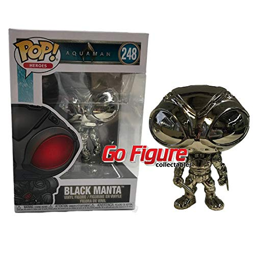 Funko - Figurine Aquaman Movie - Black Manta Chrome Exclu Pop 10cm - 0889698345750