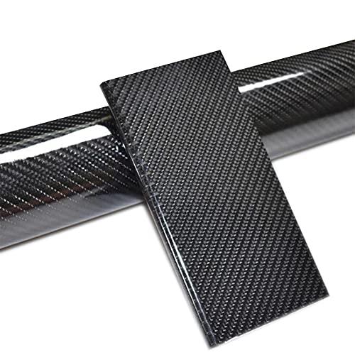 Fibra de Carbono Pegatina, Vinilo Fibra de Carbono 6D, 1520 x 300 mm Fibra de Carbono Adhesiva Coche, Uso Exterior Interior para Coche Motocicleta Ordenador (Negro)