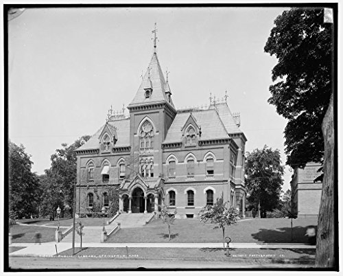Vintography 16 x 20 Canvas Wrap Ready to Hang Image of Public Library, Springfield, Mass. Taken by Detroit Publishing Co. in 1903 a61