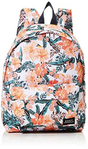 ROXY Womens SUGAR BABY PRINTED Backpack, Bright White MAHE RG S, Medium