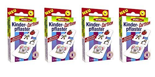 Kinderpflaster/Pflaster/Stripes für Kinder im Set - mit tollen bunten Motiven - wählbar: Kunterbunt – Prinzessin – Einhorn – Tiere - Cartoon/für Mädchen (Cartoon 40 Stück Rund)