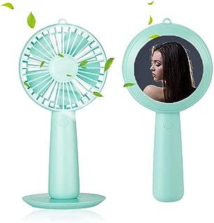 Color : Green HAIMEI-WU Portable USB Fan Cooler Mini Handy Small Chilling Fan Desk Pocket Fan Chilling Air Mini Electric Fan