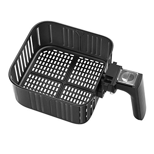 Air Fryer Replacement Basket 3.7QT For COSORI Black CP137-AF Air Fryer, Non-Stick Fry Basket, Dishwasher Safe, FDA Compliant, C137-FB