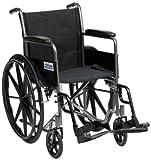 Drive Self Propel Silver Sport Wheelchair, 18 Inch Seat Width