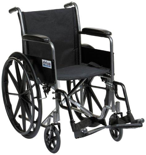 Drive Medical SSP118FA-SF Sport-Rollstuhl, manuell, Silber