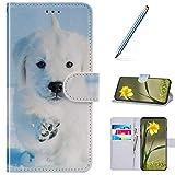 URFEDA Compatibile con Huawei P20 Lite Custodia Pelle Cover Flip Case Colorato Portafoglio...