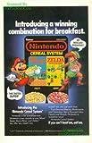 Nintendo Cereal System: Advertisement with Super Mario & Link: Super Mario Bros. & Zelda Adventure Series: Great Original Print Ad! Link