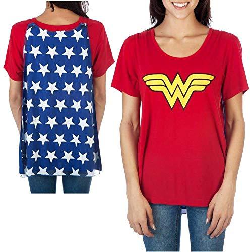 Wonder Woman De las mujeres del traje del cabo intercambiable Camiseta Pequeño