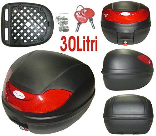 A-Pro 5180000072902 Topcase motorfiets scooter 30 liter universele tas bagage box koffer mat zwart