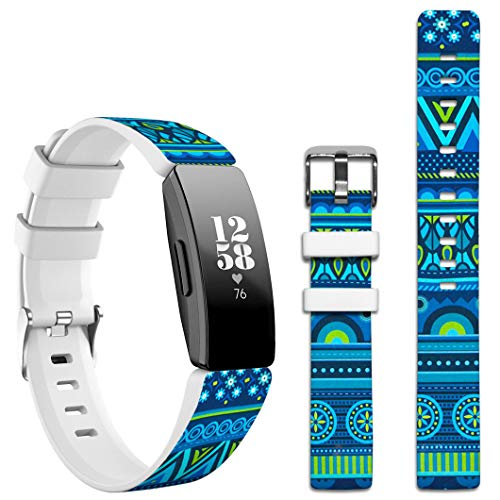 Topgraph Kompatibel mit Fitbit Inspire HR / Ace2 Armband,Silikon Band Sport Ersatzband Uhrenarmband für Fitbit Inspire HR Smartwatch [Colorful Personalized Pattern Designer Artwork]
