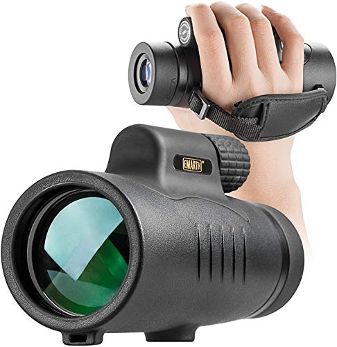 8x42 Monocular Telescope, HD Starscope Monocular for Adults, BAK-4 Prism Full Multi-Coated Lens Waterproof with Hand Strap for Birdwatching Hunting Hiking Camping Sightseeing