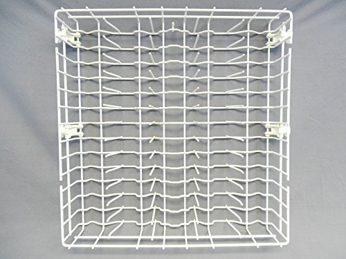 Whirlpool W10311986 Lower Dishwasher Rack Assembly, Ice Gray, white