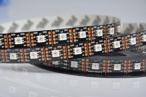 APA102 60 LEDs per Meter Streifen Schwarz - Meterware ähnlich wie WS2801 Chip