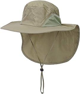 CHIC DIARY Sonnenhut Sommer UV Schutz Schirmm/ütze Safari Hut Faltbar Unisex Fischerhut f/ür Outdoor Angeln Wandern