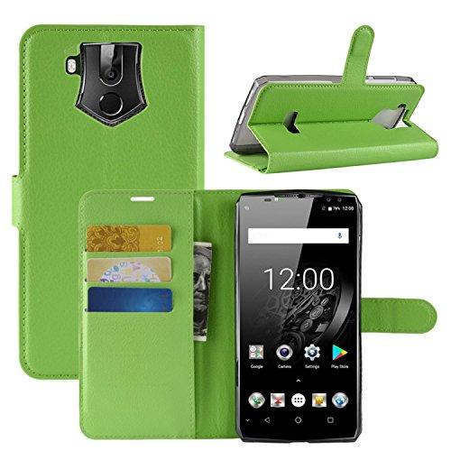 HualuBro OUKITEL K10 Hülle, Premium PU Leder Leather Wallet HandyHülle Tasche Schutzhülle Flip Hülle Cover mit Karten Slot für Oukitel K10 Smartphone (Grün)