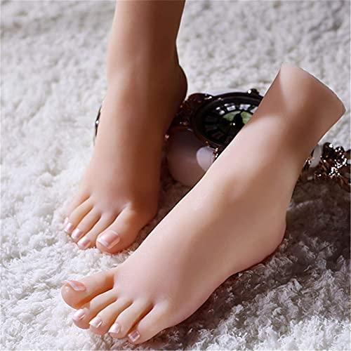Yongqin Silikonfußmodell Silikon-Schaufensterpuppenfuß, Weiblicher Schöner Fußmodell 1: 1, Um Realistische Und Lebensechte Schöne Füße Für Die Anzeige Von Schuhen Und Malunterricht Zu Machen