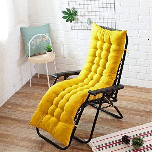 NoNo Lang kussen ligstoelen opvouwbaar dikke stoel kussen tuin stoel kussen raam vloer mat dubbelzijdig tatami mat 40x110cm lichtgeel