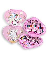 72pcs Childen Heart Shape Art Set - Pink