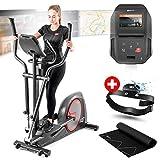 Hop-Sport Vélo elliptique Sentinel Hop-Sport HS-300C Console Avancée Android, Roue d'inertie 30kg, Ceinture Télémétrique, USB, Wi-FI + Tapis de Protection Max.160 kg