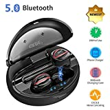 Auricolari Senza Fili Bluetooth 5.0, Cuffie Bluetooth TWS Super Bass True Wireless Sport In Ear 80 Ore Playtime IPX5 Impermeabile Riduzione del Rumore DSP con Custodia di Ricarica da 1500mAh Portatile