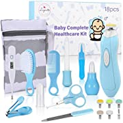 Lupantte Baby Grooming Kit, 18PCS Baby Health Care Kit Newborn Baby Care Accessories, Electric Nail Clipper, Thermometer, Nasal Aspirator, Baby Care Kit for Infants Newborns, Perfect Baby Shower Gift