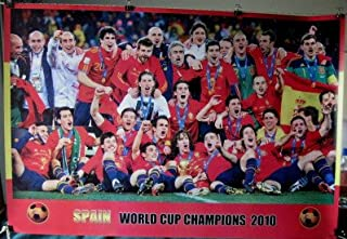 Spain 2010 soccer team celebrates World Cup POSTER 34 x 23.5 Spanish football champs (poster