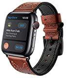 """Package include: 1* Watch band only, Watch is not included. compatible with Apple Watch SE Series 6/5/4/3/2/1 38mm/40mm 42mm/44mm Perfect Fit Size: Fits 5.71""""-8.07"""" (145mm-205mm) wrist Remove and replace with other colors in seconds, with no tools re..."""