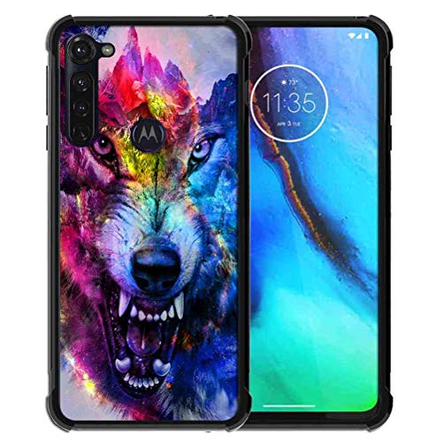Phone Case for Motorola Moto G Stylus Case (2020) for Girls Women Space Galaxy Nebula Wolf, ABLOOMBOX Anti Scratch Slim Bumper Shockproof Protective Case Cover Reinforced Corners