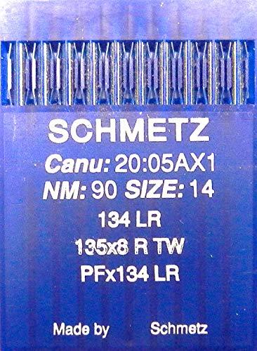 Schmetz 10 134 LR naaimachine leer naalden ronde kolf (industrie) dikte 90