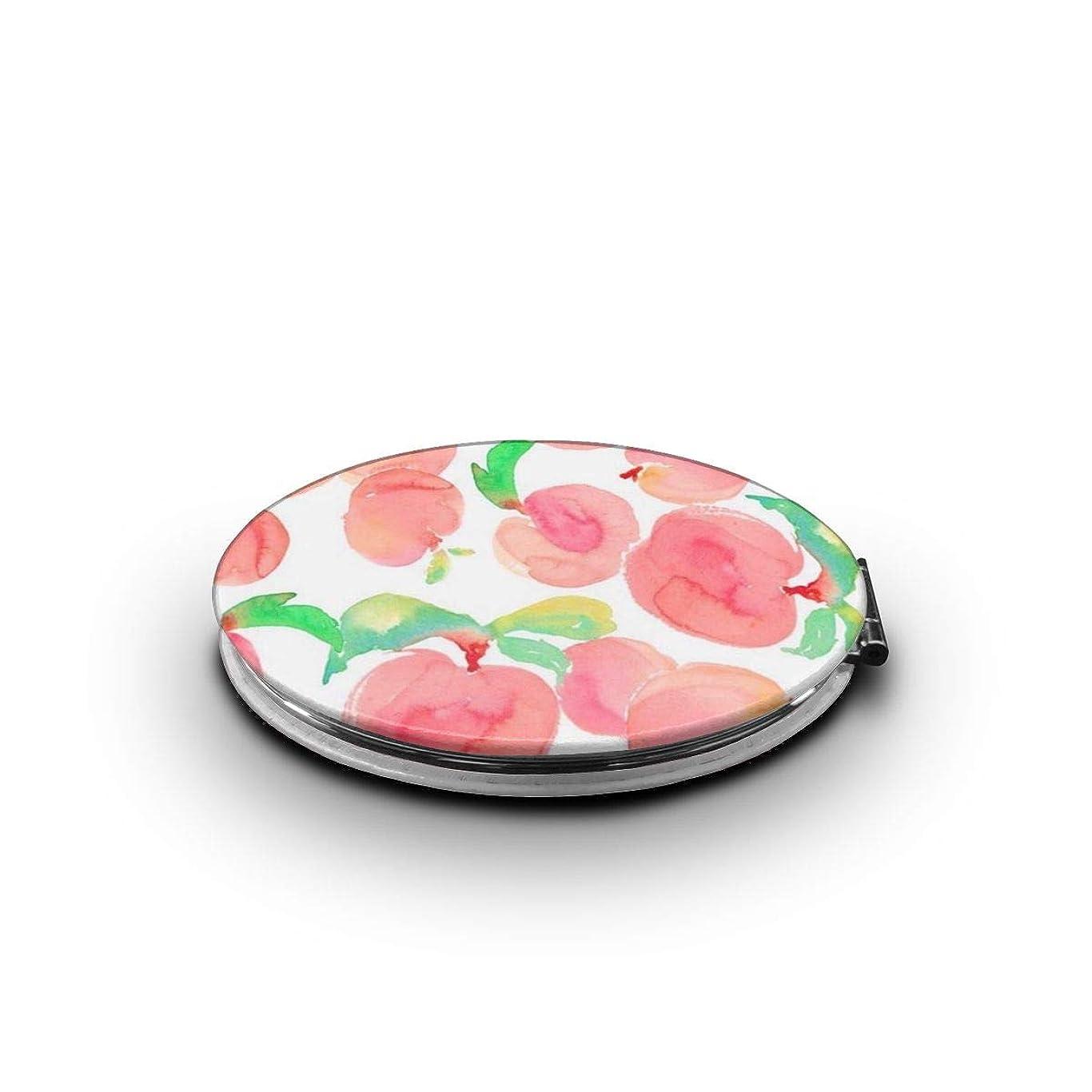 列挙する大破食堂化粧鏡 ピンクのもも 折りたたみ 自由 角度調整 180° 回転 女優ミラー 携帯用ミラー コンパクトコンパクト ミラー