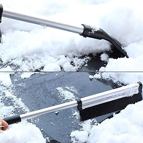 Odoland Eiskratzer Auto mit Schneeräumer 2 IN 1 Aluminiumlegierung Schneeschaufel Auto 54/82cm Einziehbare Schaufel Abnehmbar Schneebesen Auto Eisschaber Idea für PKW LKW und SUV im Freien - 5