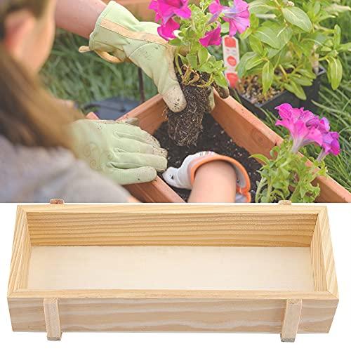 SANON Pflanztrog aus Holz, rechteckiger Fensterkasten Gartenpflanzer Blumenkasten 8.9x3.6x1.9 Zoll Indoor/Outdoor Sukkulente Pflanze Moos Container Box