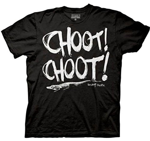 Swamp People Choot Choot! Black Adult T-shirt Tee (Adult Small)