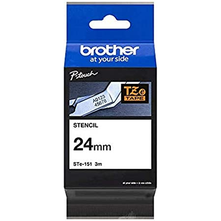 Details about  /Compatible with Brother P-Touch STE-151 STE151 Etching Stencil Black Tape 24mm