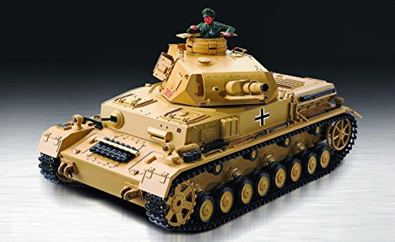 ES-TOYS RC Panzer Kampfwagen IV AUSF.F-1  Heng Long 1 16 mit Rauch und Sound + Metallgetriebe + 2,4Ghz Fernsteuerung