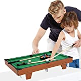 AYNEFY Mini Pool Table, Kids Pool Game Table Top Pool Game Billiards Snooker Table Children Pool Set for...